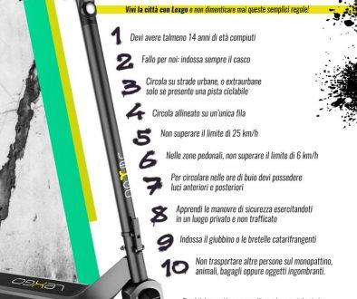 10 regole monopattino elettrico