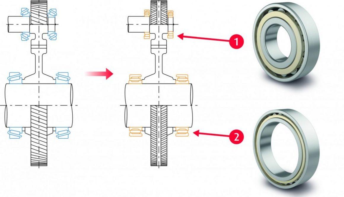riduttori a lisca di pesce (destra), tradizionale riduttore elicoidale (sinistra)